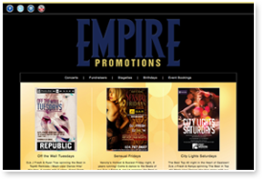 Empire Promotions Website Design  & Layout, CSS / HTML