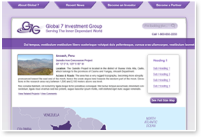 Global 7 Investment Group Website Design