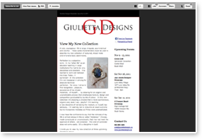 Giulietta Designs Newsletter Design and Development