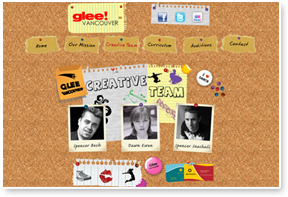Glee Vancouver Website Design  & Layout, CSS / HTML