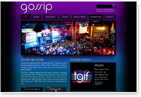 Gossip Night Club Website Design