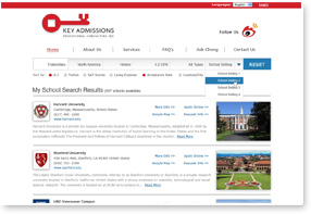 KEY Admissions Website Design