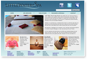 Little Water Spa Website Design, CSS / HTML