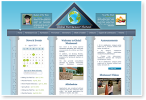 Global Montessori Website Design