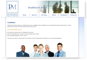 PM Search Partners Website Design