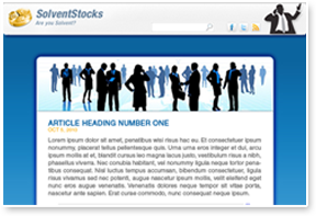 Solvent Stocks Newsletter Design