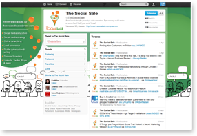 Social Sale  Twitter Background Design
